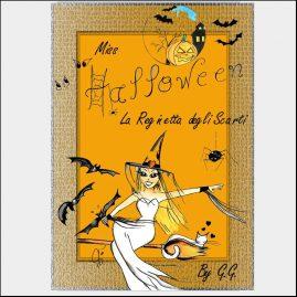 """Copertina libro ebook """" Halloween la reginetta degli scarti """""""