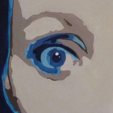 """Ritratto dipinto """"Micol"""" pop art"""