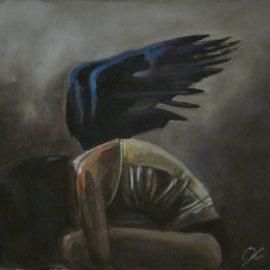 """Pain """"Il Volo di un angelo"""" by Violetta Viola"""