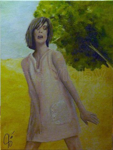 Jezebel dipinto di Violetta Viola Arte ViolaV