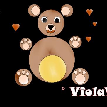 Colora un Orsacchiotto un'idea di Violetta