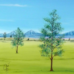Paesaggio di campagna disegno