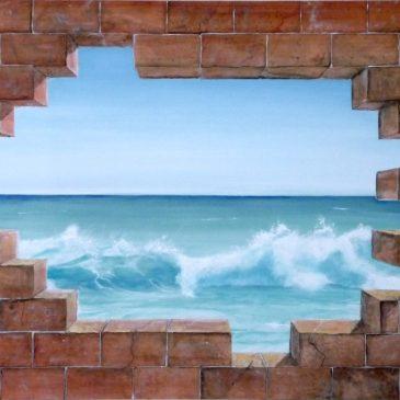 """Murales """" Buco nel muro  """" come decorare una parete"""
