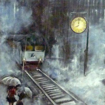 Quel treno che le porterà lontano, lontano da lui.