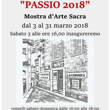 """PASSIO 2018 – Mostra D'Arte Sacra – Centro Culturale d'Arte """"La Canonica"""""""