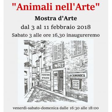 """Animali nell'Arte – Centro Culturale d'Arte """"La Canonica"""" Novara"""