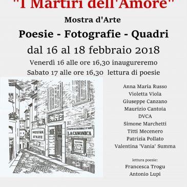 """Martiri dell'Amore – Centro Culturale d'Arte """"La Canonica"""" Novara"""