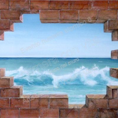 camera con vista buco nel muro