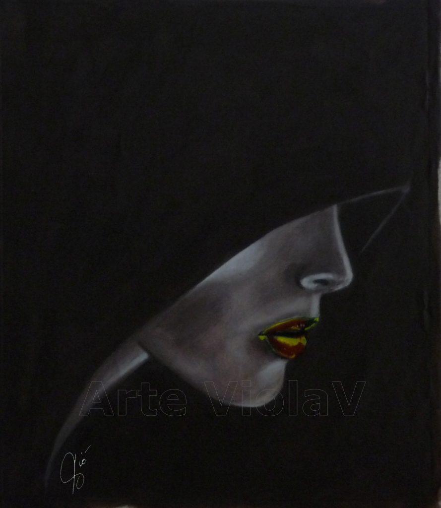 bocca dipinto di Violetta Viola Arte ViolaV
